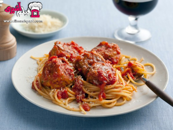 اسپاگتی با گوشت قلقلی
