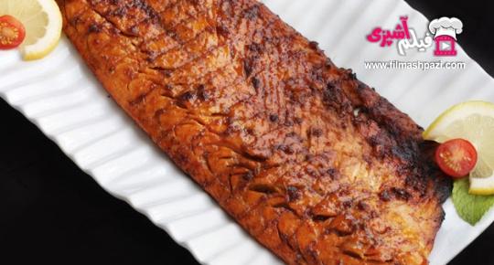 ماهی کبابی مزه دار شده