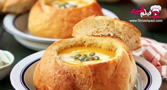 سوپ کدو تنبل و سیب زمینی